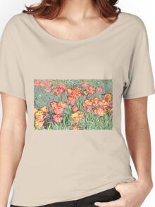 Pastel Tulips Women's Relaxed Fit T-Shirt