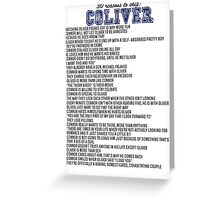 30 reasons to ship Coliver Greeting Card