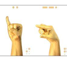 gold code: SIGN Sticker