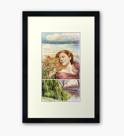 Trying to forget him... Framed Print