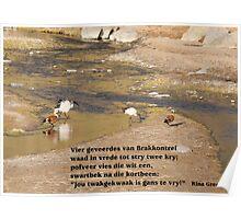 Vier geveerdes van Brakkontrei Poster