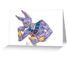 Lord Beerus Card Greeting Card