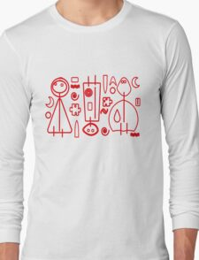 Children Graphics - red design Long Sleeve T-Shirt