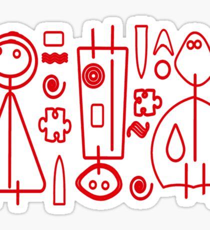 Children Graphics - red design Sticker