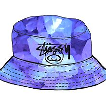 Purple Crystals Stussy Hat by sillyspoons