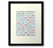 Pattern of Science Framed Print