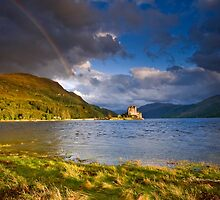 Scotland : Sunshine & Showers on Loch Duich by Angie Latham