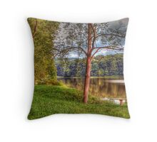 The Lone Tree by the Lake Throw Pillow