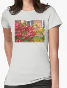 AUTUMN COLOURS IN THE GARDEN Womens Fitted T-Shirt
