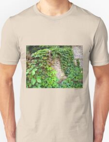 Wet and green shoots of wild grapes Unisex T-Shirt