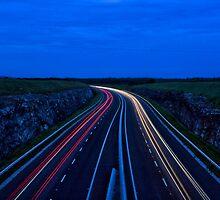 Car Light Trails  by John  Carey