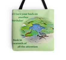 Birthday Card - Baby Snapping Turtle Tote Bag