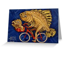 Flounder on a Bicycle Greeting Card