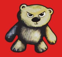 Cute Angry Bear Kids Tee