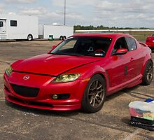 Trevor K. Silva's Mazda RX8  at Heartland Park Topeka in Between Sessions by Paul Danger Kile