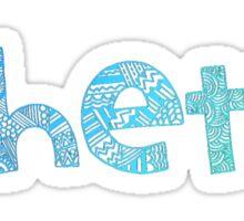 Theta Tribal Sticker (Blue) Sticker