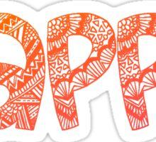 Kappa Tribal Sticker Sticker