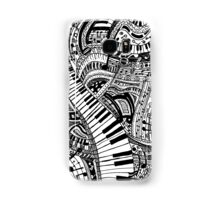 Classical music doodle with piano keyboard Samsung Galaxy Case/Skin
