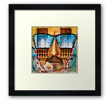 Sunglasses Graffiti Wall Framed Print