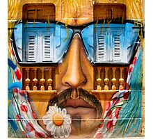 Sunglasses Graffiti Wall Photographic Print