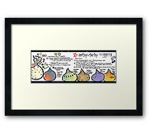 Illustrated Recipe: Artsy Fartsy Nuggets Framed Print