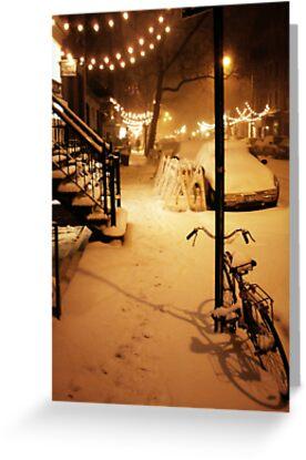 Winter Blizzard - New York City by Vivienne Gucwa