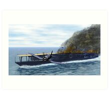 Fighting at the Battle of Midway Art Print