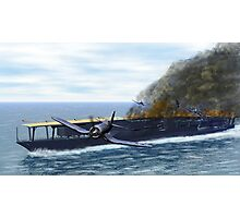 Fighting at the Battle of Midway Photographic Print