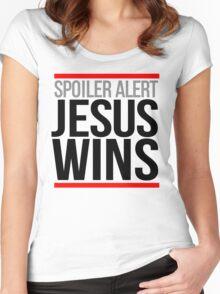 Jesus Wins Women's Fitted Scoop T-Shirt