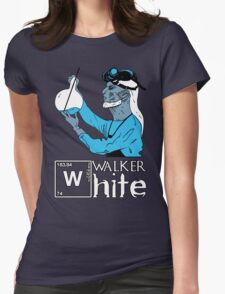 Walker White Womens Fitted T-Shirt