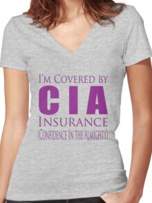 cia insurance Women's Fitted V-Neck T-Shirt