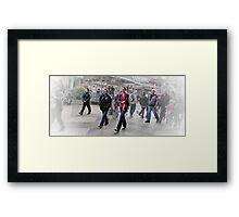 Walk This Way. Framed Print
