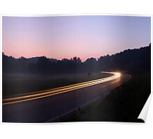 Taking Liberty Road Curve Poster
