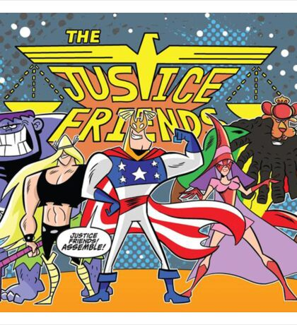 Justice Friends Sticker