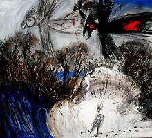 black cockatoos by the sea by glennbrady
