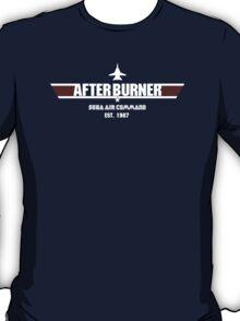 After Burner Top Gun White Logo Mashup Homage T-Shirt