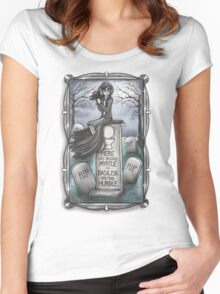 Grim Grinning Myrtle Women's Fitted Scoop T-Shirt