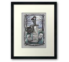 Grim Grinning Myrtle Framed Print