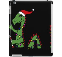Awesome Green Loch Ness Monster with Christmas Lights iPad Case/Skin