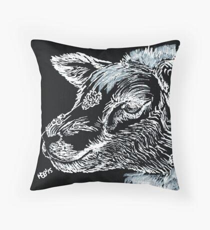 Snow Sheep Throw Pillow