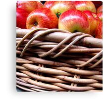 Apples in a Basket Canvas Print