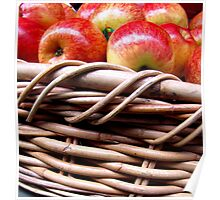 Apples in a Basket Poster