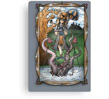 Luna's Haunting Trapeze Act Canvas Print