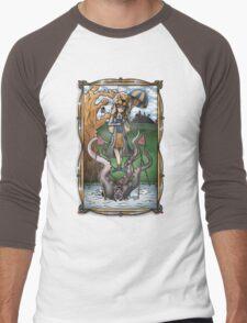 Luna's Haunting Trapeze Act Men's Baseball ¾ T-Shirt