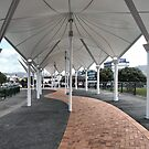 Victoria Bridge covered walkway, Whangarei, NZ by Lynne Haselden