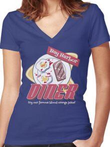 Bay Harbor Diner Women's Fitted V-Neck T-Shirt