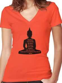 Buddha Sayings Women's Fitted V-Neck T-Shirt
