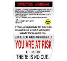 Zombie Infection Warning Poster