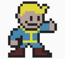 Fallout Vault Boy Pixel Art Thumbs-Up Kids Clothes