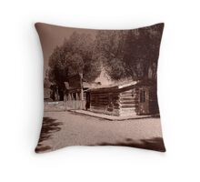 Nevada City Sepia 1 (Montana, USA) Throw Pillow